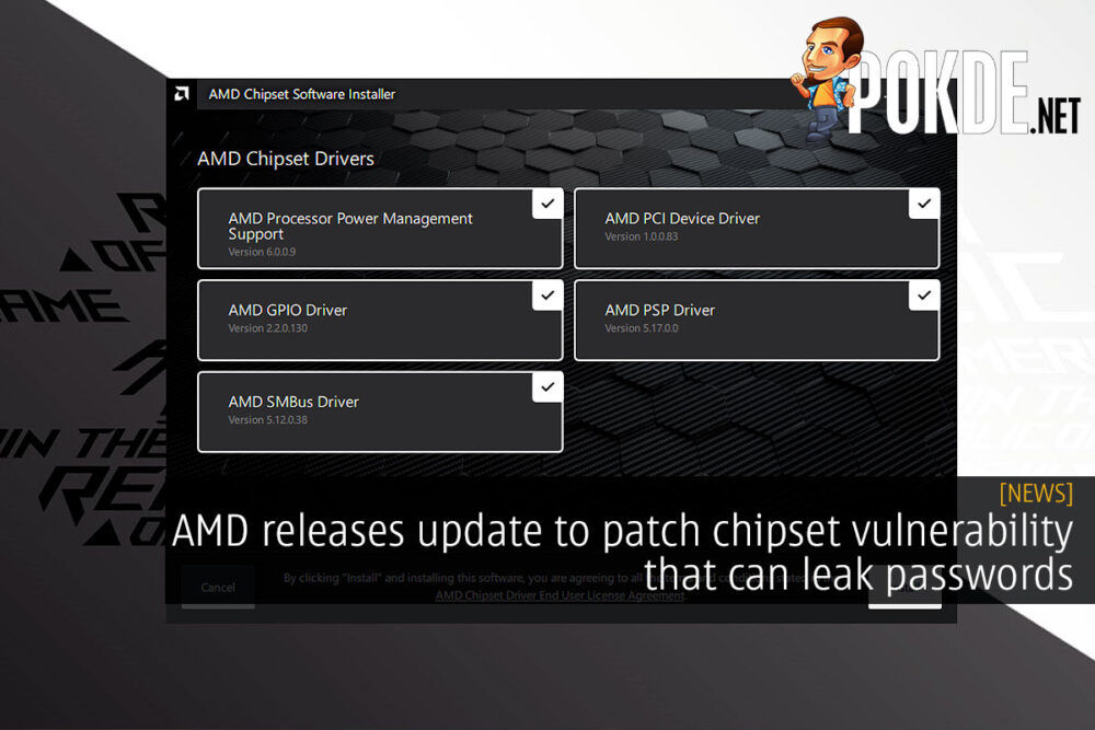 amd chipset driver update vulnerability cover