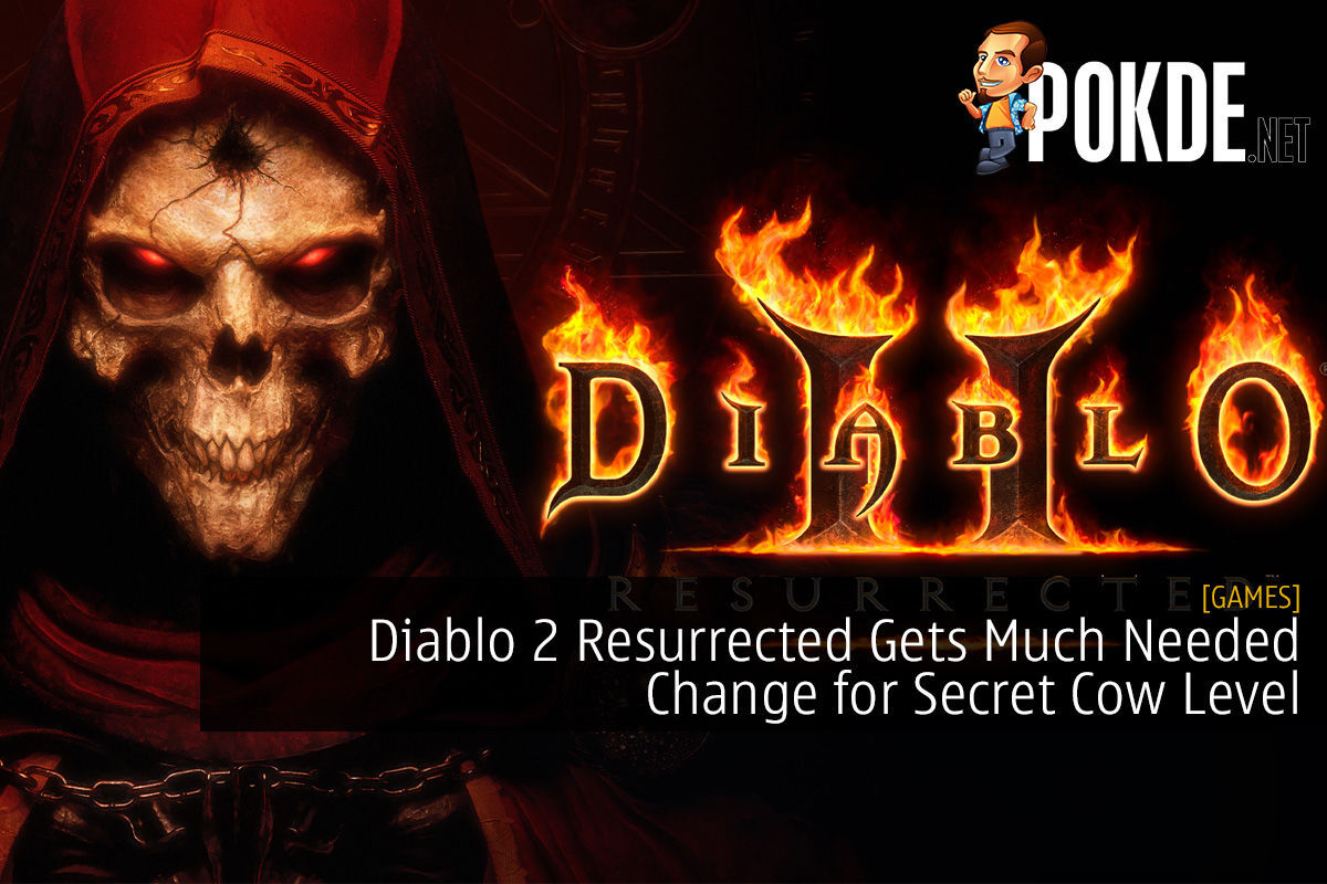 Diablo 2 Resurrected Gets Much Needed Change for Secret Cow Level