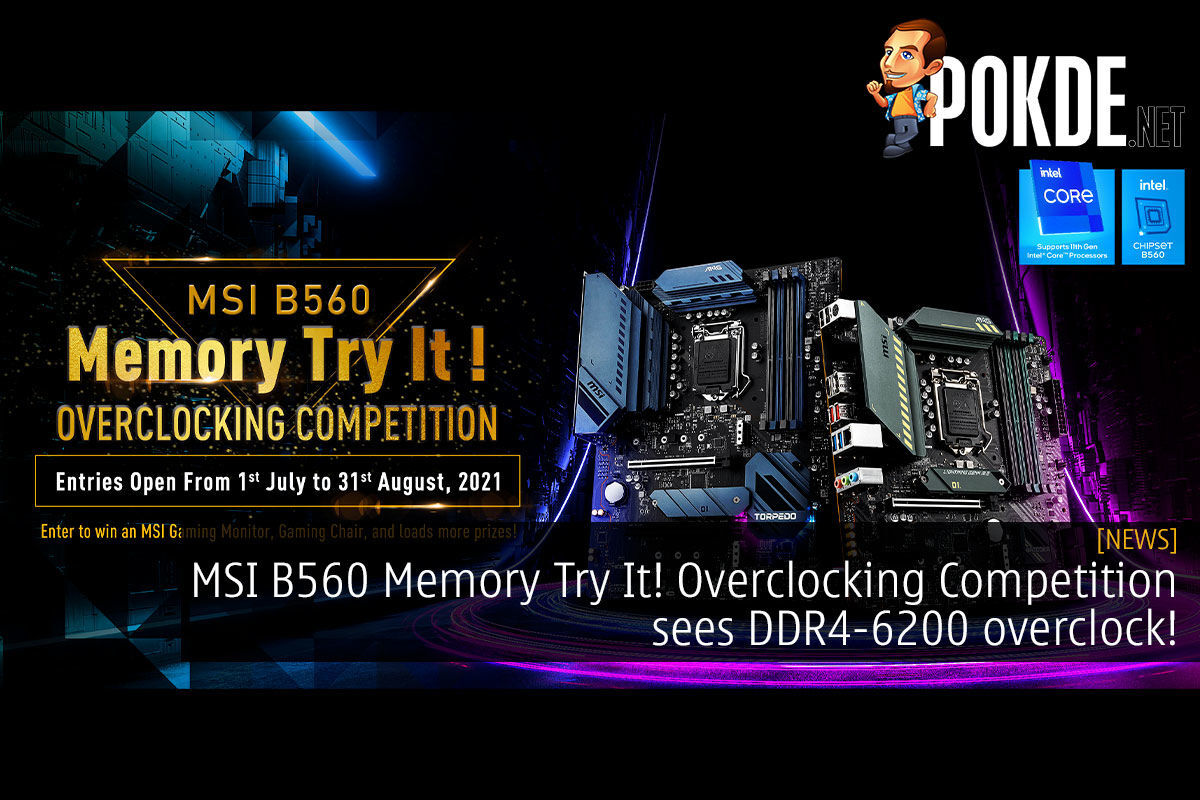 msi b560 memory try it overclocking competition winner cover