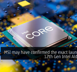 msi confirmed the launch date of the 12th generation alder lake blanket