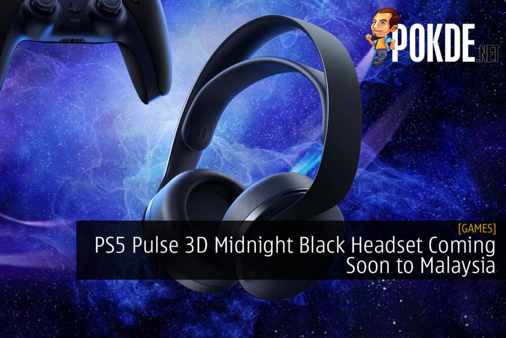 PS5 Pulse 3D Midnight Black Headset Coming Soon to Malaysia