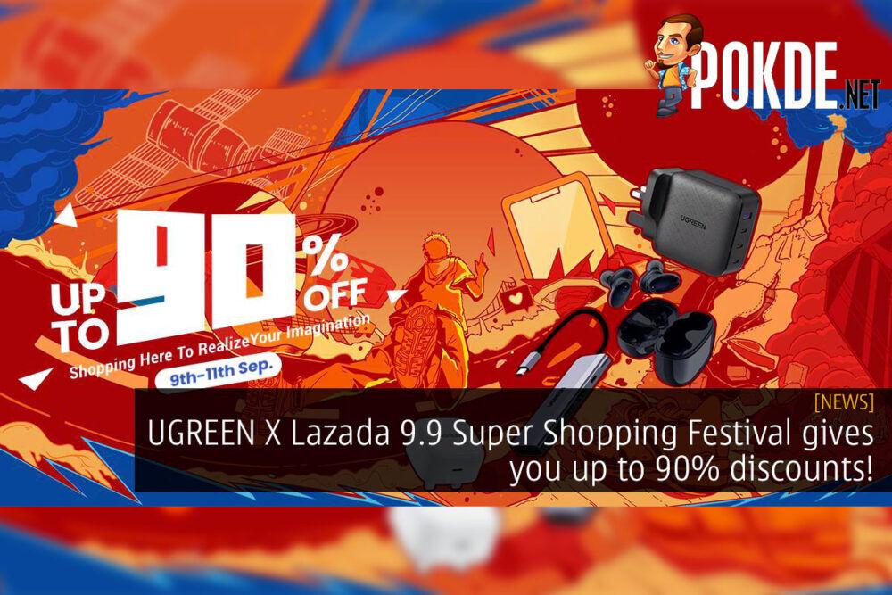 ugreen x lazada 9.9 super shopping festival discount cover