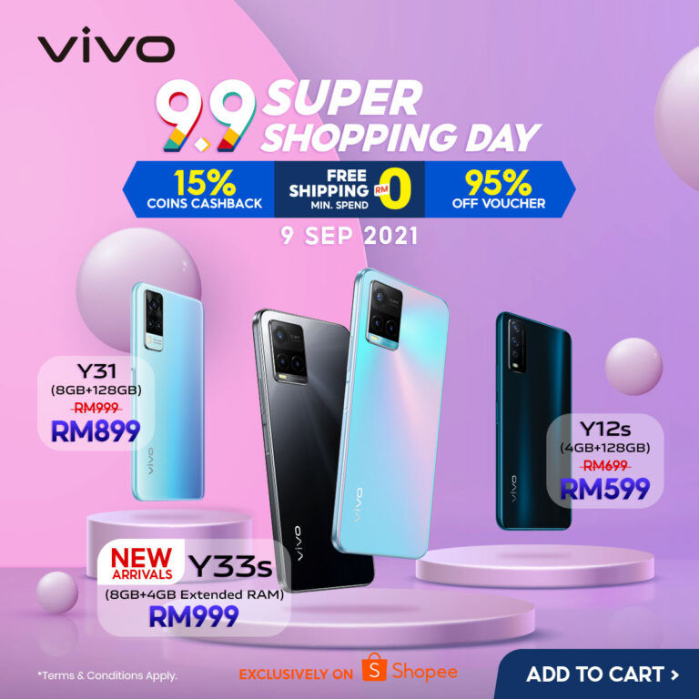 Enjoy Exclusive Discounts With vivo x Shopee 9.9 Super Shopping Day 20