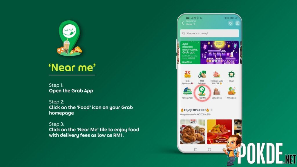 GrabFood Now Offering Delivery Fees For As Low As RM1 With Their New Features 27