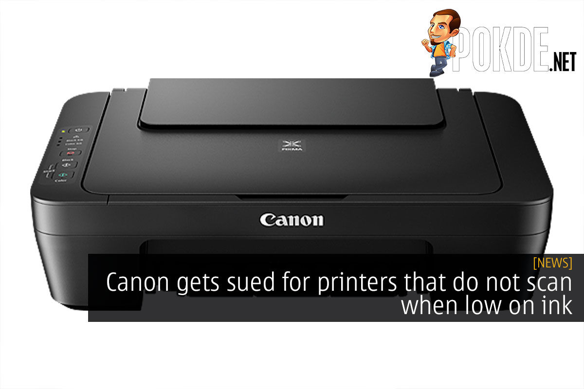 canon scanner no ink cover